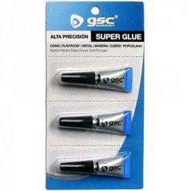 Pegamento super glue monodosis 3 tubitos x1gr GSC Evolution