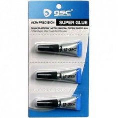 Pegamento super glue monodosis 3 tubitos x1gr GSC Evolution