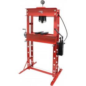 Prensa hidráulica manual con manómetro - 180mm 40T Mader