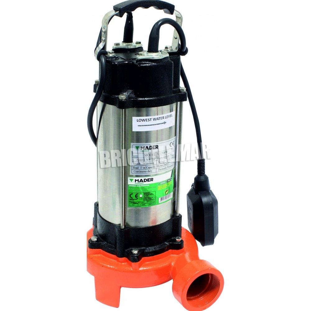 Bomba sumergible para agua sucia 1500w mader comprar al - Bomba de agua precio ...