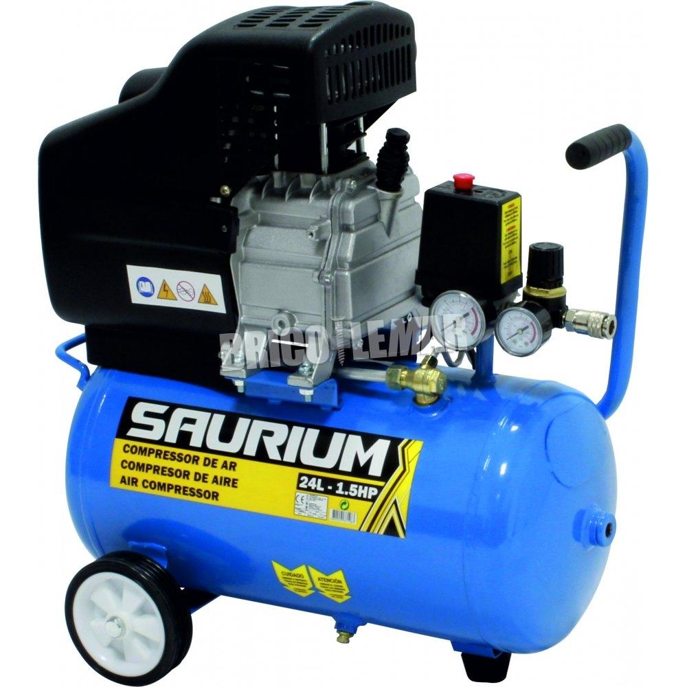 Compresor de aire 24lts saurium 1 5hp mader comprar al - Compresor de aire precios ...