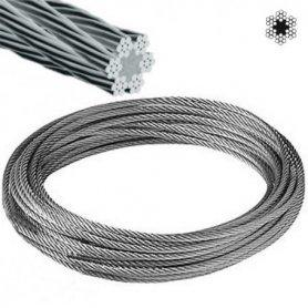 Cable acero galvanizado ø2 6x7+1 rollo 15 metros
