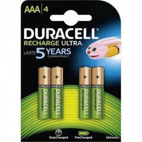 Pilas recargable ultra AAA 850mah 4 unidades Duracell