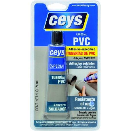 Adhesivo tuberías PVC 70ml. Ceys