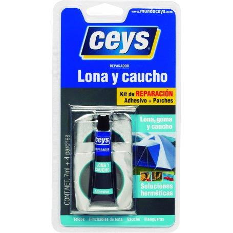 Reparador lona y caucho 7ml + 4 parches Ceys