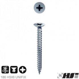 Tornillo para aglomerado 4.0x25 zincado pozidriv cabeza plana (1000 unidades) Heco