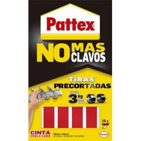 Pattex Cinta doble cara No Mas Clavos 10 tiras precortadas Henkel