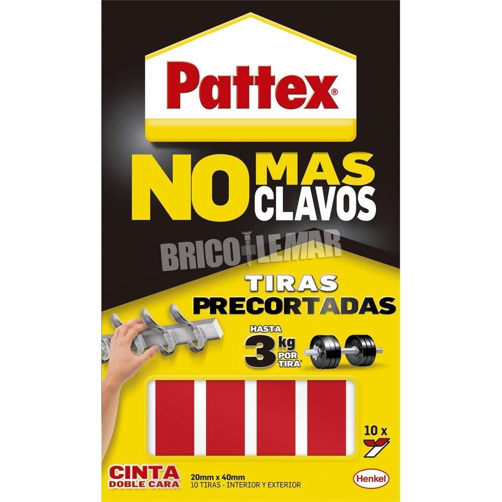 Pattex cinta doble cara no mas clavos 10 tiras precortadas - Precio pattex no mas clavos ...