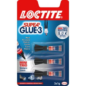 Loctite Super Glue-3 Mini Trio 3x1gr. Henkel