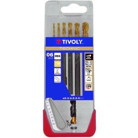 Estuche de brocas metal de precisión Technic 5 piezas Tivoly