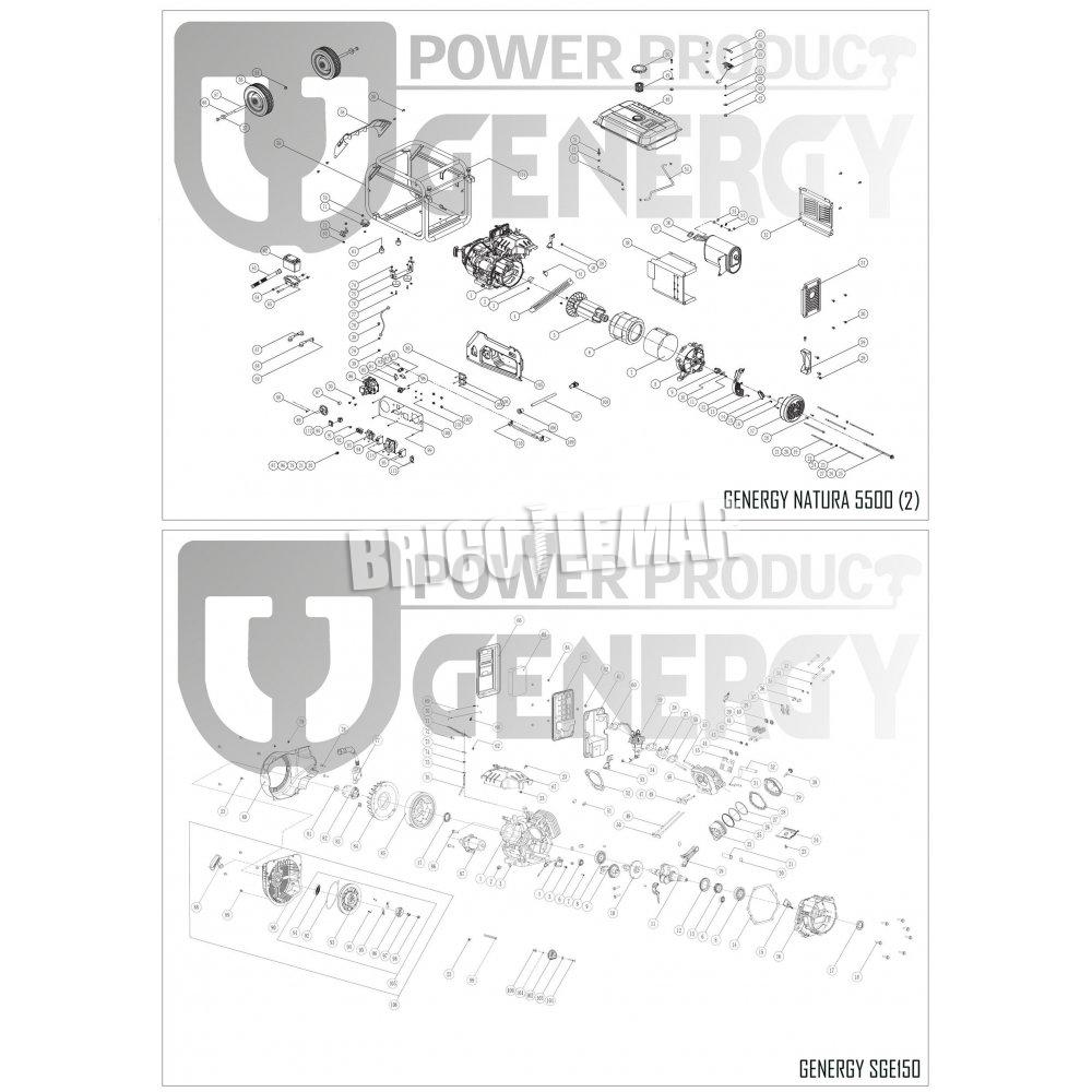 Generador a gas y gasolina natura 5500 5500w 230v e start - Generador a gas ...