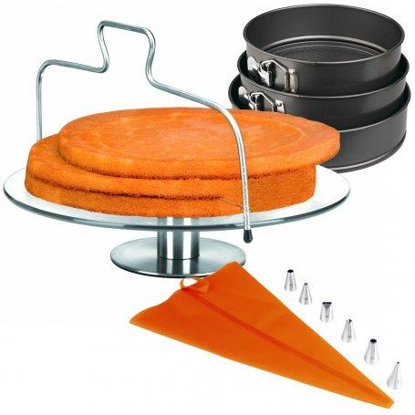 Kits preparación de tartas con soporte giratorio Ibili-Kabra