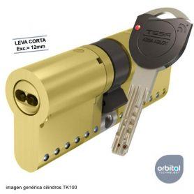 Tesa Tk100 40x40 Laton Cilindro Leva 12 mm