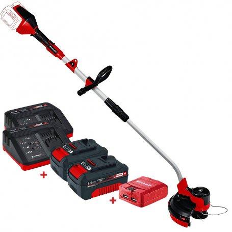 Kit recortabordes sin cables Einhell GE-CT 36/30 Li E + 2 Baterías 3Ah con cargadores + Adaptador USB