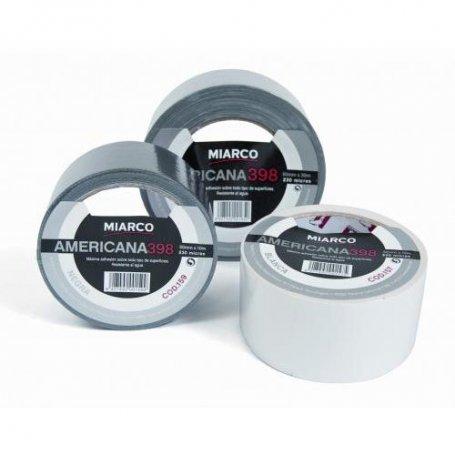 Cinta multiusos americana 398 plata (50mm x 10m) Miarco