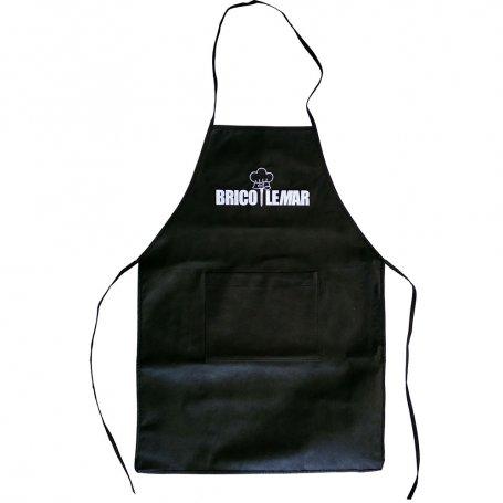 Delantal cocinero negro Kabra