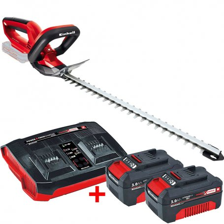 Kit Cortasetos sin cables GE-CH 18V Li con 2 baterías 3Ah y cargador doble Einhell