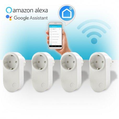 Pack de 4 Enchufes inteligentes WiFi 10A GSC Evolution