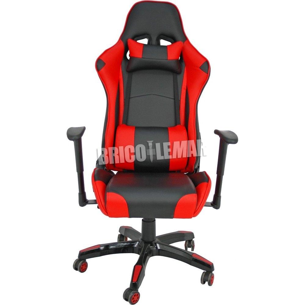 Furniture Style Silla gaming negro rojo Regina QshrdCtx