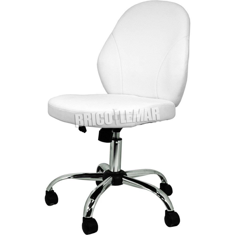 Silla de oficina blanca Estela Furniture Style