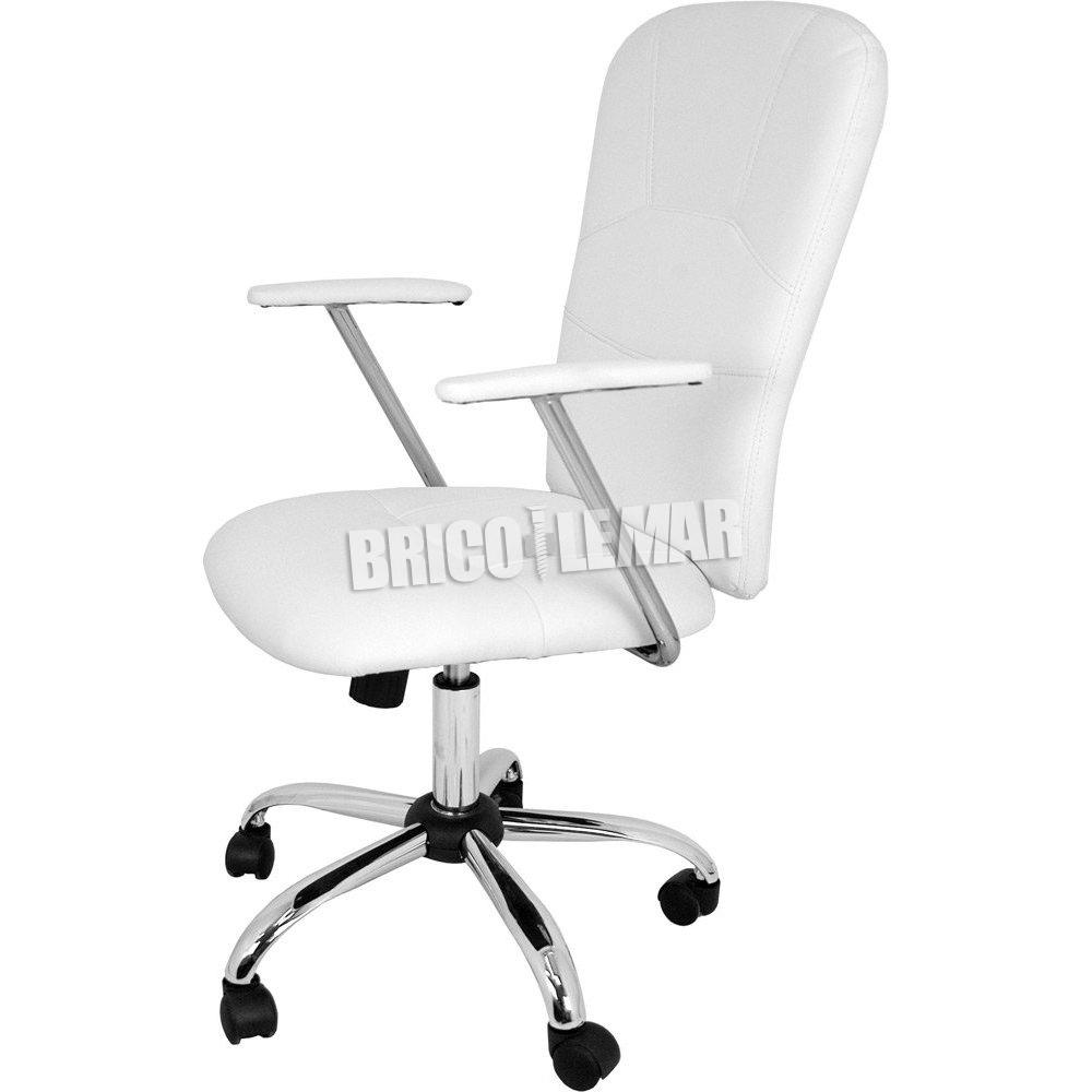 Silla de oficina blanca Magali Furniture Style