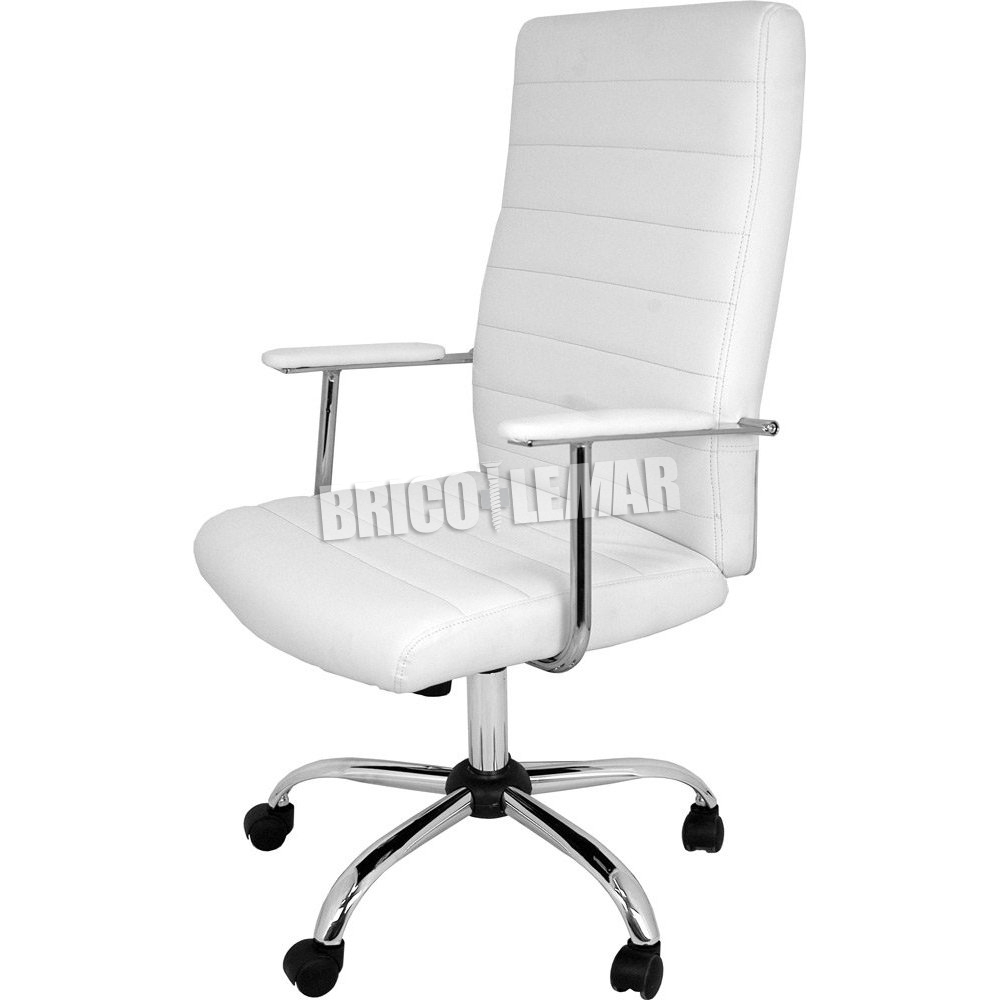 Silla de oficina blanca Lara Furniture Style