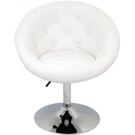 Sillón-Taburete Beauty blanco Furniture Style