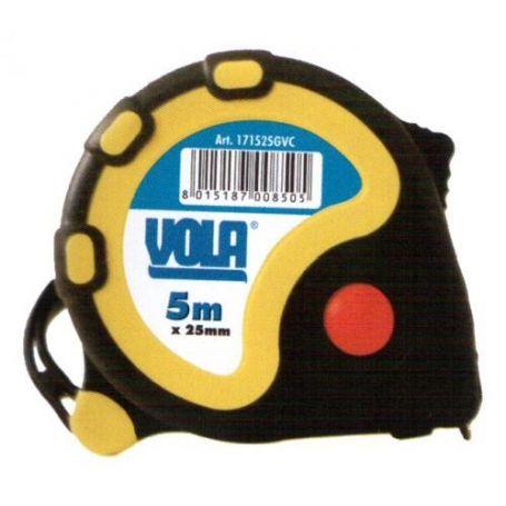 Flexometro ABS goma antichoque 8mx25mm Vola