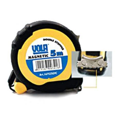 Flexometro ABS goma magnético 5mx25mm Vola