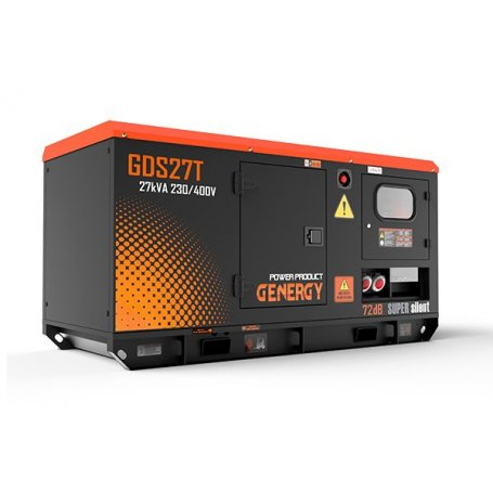 Grupo electrógeno diésel silencioso GDS27T-27KVA 22KW 400/230V