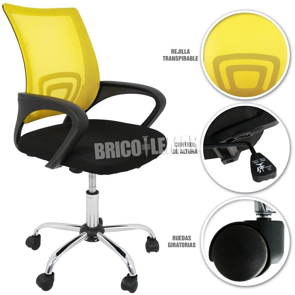 silla de escritorio amarilla detras NECs6b67