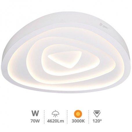 Plafón techo LED Rose Ø530x80mm 70W 4620Lm 3000K GSC Evolution