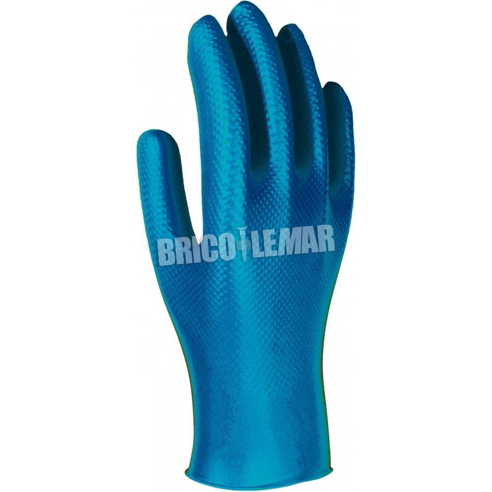 Resistente Guantes de nitrilo Texturizado sin Polvo Color Azul 100 Unidades