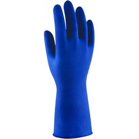 Guante multiuso lp-bl latex desechable azul hospital (10x50 und) t/m 3l