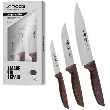 Juego de cuchillos rojo metalizado 3 und arcos