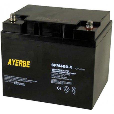 Batería 12V 40AH para generadores de hasta 20KVA AYERBE