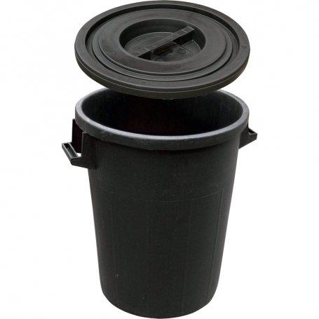Kit de cubo de basura negro 100 litros 53x63cm + tapa Maiol