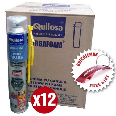Espuma de Poliuretano Tejas Quilosa Orbafoam gris cánula caja de 12 unidades