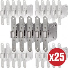 UCEM Juego Picaportes para Puertas Unificado UCEM 6134 BC HN050 Frente Redondo para embutir 25