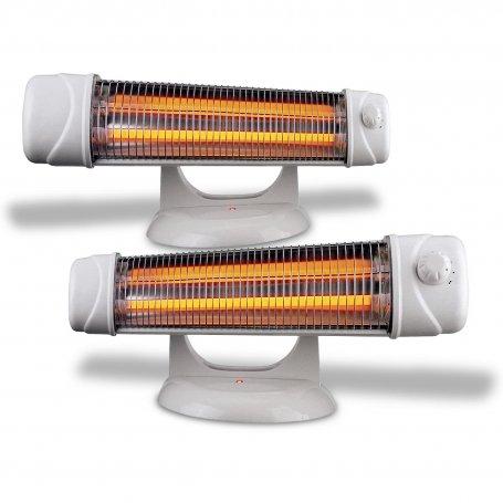 Conjunto de 2 radiadores infrarrojos de baño con pie Mercatools