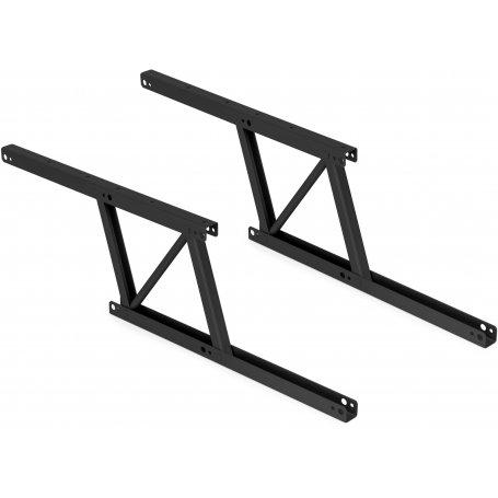 Juego de 2 mecanismos elevables para mesas de centro acero pintado negro Emuca