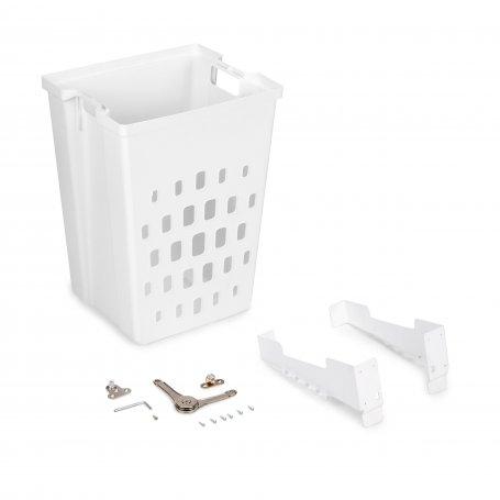 Cesto de lavandería para módulo de 450mm plástico blanco Emuca