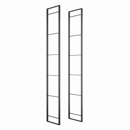 Estructura para estantería Lader altura 1790mm acero pintado negro Emuca