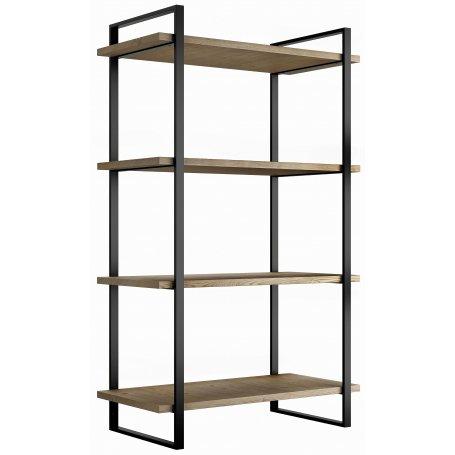 Estantería Lader con estructura y estantes altura 1150mm acero y madera Emuca
