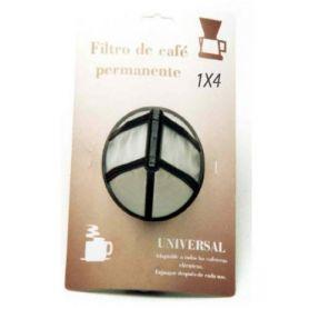 Filtro cafetera permanente universal 1x4 Sanfor