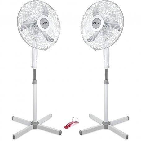 Conjunto de 2 ventiladores de pie 40cm 55W 3 velocidades HJM