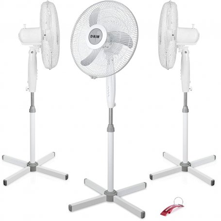 Conjunto de 3 ventiladores de pie 40cm 55W 3 velocidades HJM