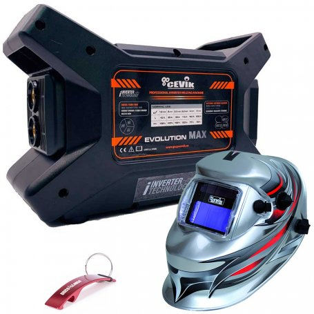 Soldador Inverter MMA Evomax200 200A + pantalla electrónica PE800PRO Cevik