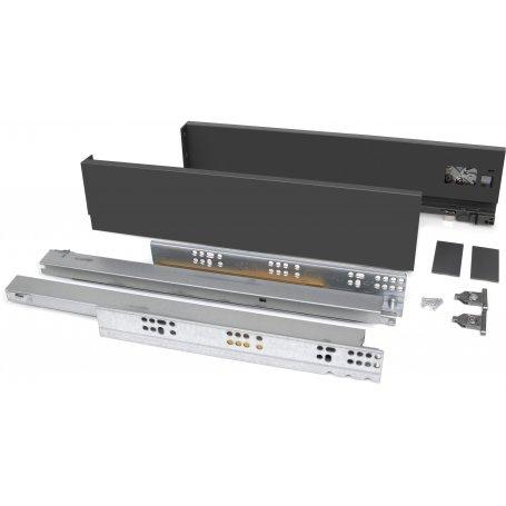Kit cajón de cocina o baño Vertex altura 83mm profundidad 500mm 40kg gris antracita Emuca