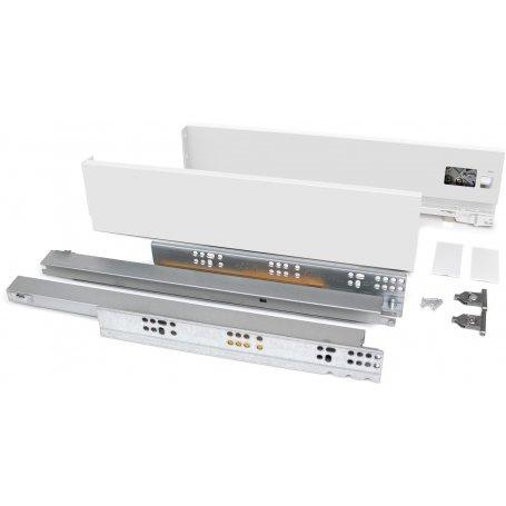 Kit cajón de cocina o baño Vertex altura 83mm profundidad 500mm 40kg blanco Emuca